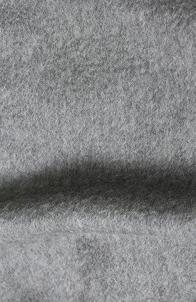 Мужской кашемировый шарф с бахромой GIORGIO ARMANI серого цвета, арт. 745208/8A130 | Фото 2