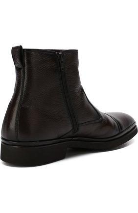 Высокие кожаные ботинки на молнии с внутренней меховой отделкой Aldo Brue коричневые   Фото №4