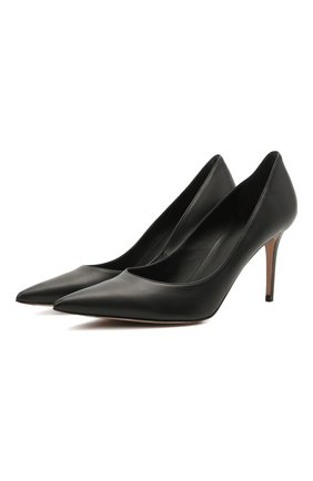 Кожаные туфли на шпильке   Фото №1