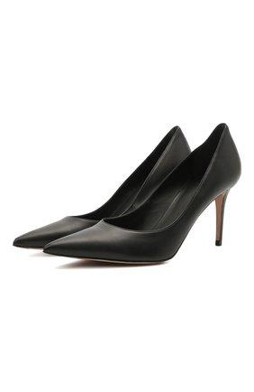 Женские кожаные туфли LE SILLA черного цвета, арт. 2101M080R1PPMIN   Фото 1