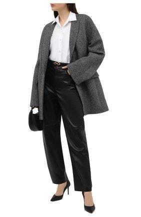Женские кожаные туфли LE SILLA черного цвета, арт. 2101M080R1PPMIN   Фото 2