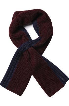Мужской кашемировый вязаный шарф shorty LORO PIANA бордового цвета, арт. FAF9106 | Фото 1
