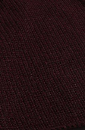 Мужской кашемировый вязаный шарф shorty LORO PIANA бордового цвета, арт. FAF9106 | Фото 2