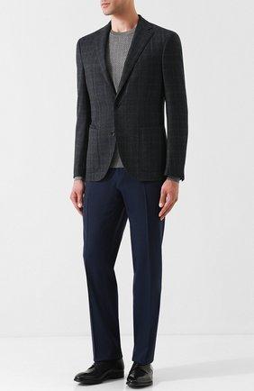 Мужские классические кожаные дерби GIORGIO ARMANI черного цвета, арт. X2C536/XAT29 | Фото 2