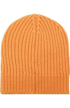Мужская шерстяная шапка фактурной вязки с логотипом бренда GUCCI желтого цвета, арт. 519750/4G206 | Фото 2