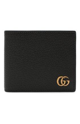 Мужской кожаное портмоне с логотипом бренда GUCCI черного цвета, арт. 428725/DJ20T | Фото 1