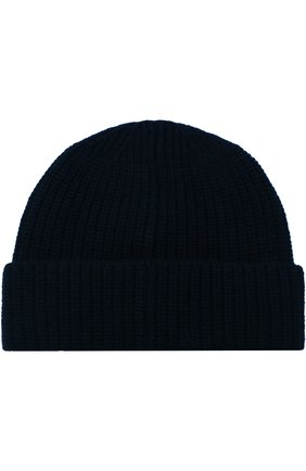 Шерстяная шапка фактурной вязки с логотипом бренда Stone Island темно-серого цвета | Фото №1