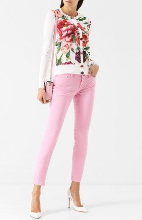 Женские джинсы DOLCE & GABBANA розового цвета, арт. FTAQWD/G890U | Фото 2
