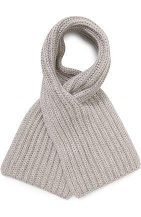Детский кашемировый шарф LORO PIANA светло-серого цвета, арт. FAF8485 | Фото 1