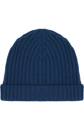 Детского кашемировая шапка LORO PIANA темно-синего цвета, арт. FAF8492 | Фото 1
