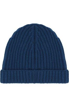 Детского кашемировая шапка LORO PIANA темно-синего цвета, арт. FAF8492 | Фото 2