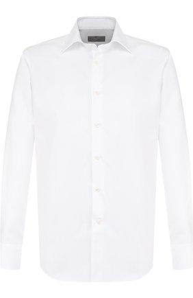 Мужская хлопковая сорочка с воротником кент CANALI белого цвета, арт. 705/GA00109/S | Фото 1