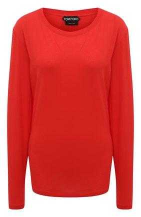 Женская хлопковый лонгслив TOM FORD красного цвета, арт. TSJ242-FAX262 | Фото 1
