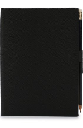 Записная книжка в кожаной обложке с карандашом Smythson #color# | Фото №1