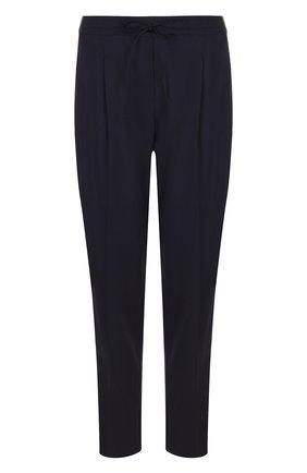 Укороченные шерстяные брюки со стрелками Windsor темно-синие | Фото №1