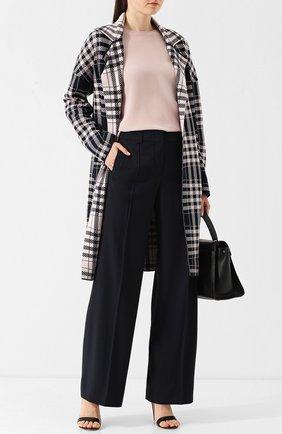 Однотонные брюки свободного кроя со стрелками Windsor темно-синие | Фото №1