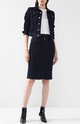 Джинсовая юбка-карандаш Dsquared2 синяя | Фото №1
