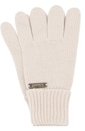 Детские перчатки из шерсти IL TRENINO бежевого цвета, арт. 18 5059/E3 | Фото 1
