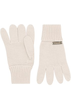 Детские перчатки из шерсти IL TRENINO бежевого цвета, арт. 18 5059/E3 | Фото 2