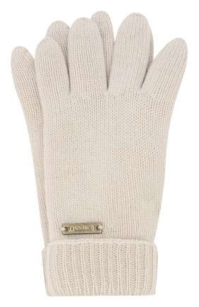 Детские перчатки из шерсти IL TRENINO бежевого цвета, арт. 18 9008/E0 | Фото 1