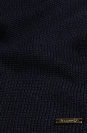Детский шерстяной шарф IL TRENINO темно-синего цвета, арт. 18 1121/E0   Фото 2