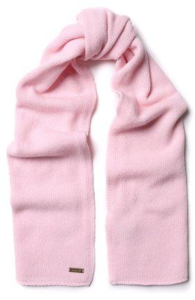 Детский шарф из смеси шерсти и кашемира IL TRENINO светло-розового цвета, арт. 17 5150/E0 | Фото 1