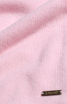 Детский шарф из смеси шерсти и кашемира IL TRENINO светло-розового цвета, арт. 17 5150/E0 | Фото 2