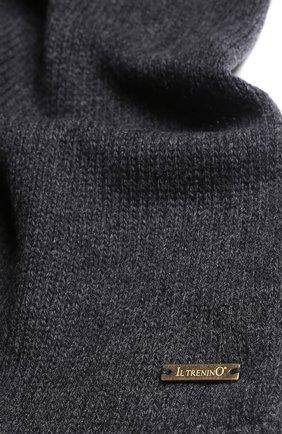 Детский шарф из смеси шерсти и кашемира IL TRENINO темно-серого цвета, арт. 17 5150/E0 | Фото 2