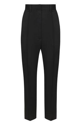 Однотонные укороченные брюки со стрелками Mm6 черные   Фото №1