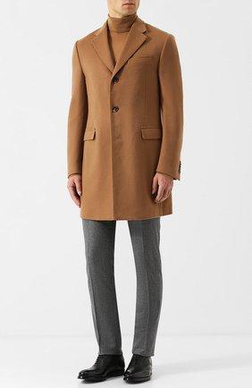 Кашемировое однобортное пальто Corneliani бежевого цвета | Фото №1