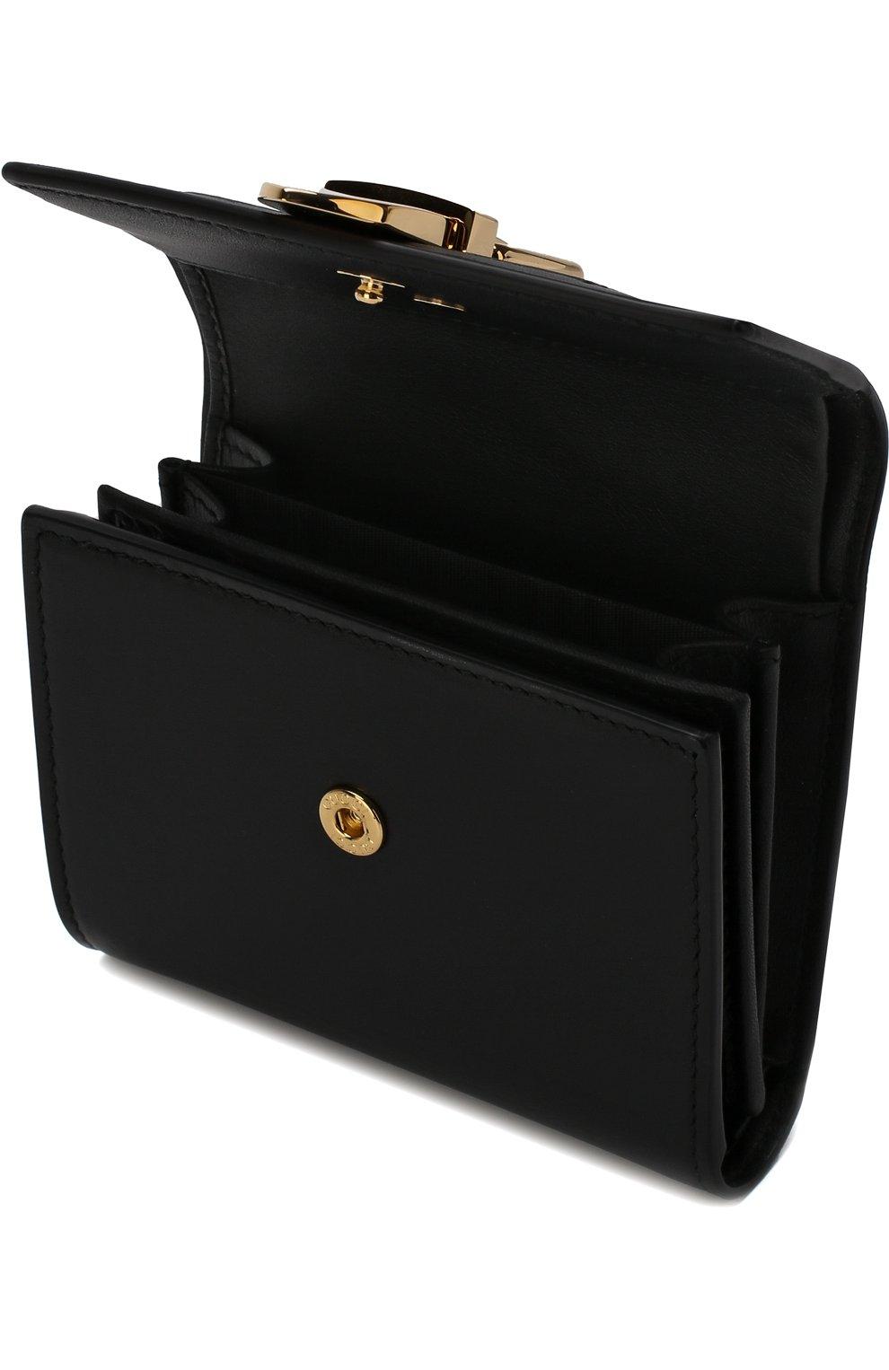 Кожаный кошелек Sylvie с клапаном Gucci черного цвета | Фото №3