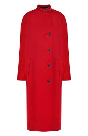 Однотонное пальто с воротником-стойкой Haider Ackermann красного цвета | Фото №1