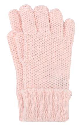 Детские кашемировые перчатки little crochet LORO PIANA светло-розового цвета, арт. FAF8480 | Фото 1