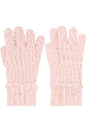 Детские кашемировые перчатки little crochet LORO PIANA светло-розового цвета, арт. FAF8480 | Фото 2