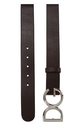 Мужской кожаный ремень DOLCE & GABBANA темно-коричневого цвета, арт. BC4245/AI894 | Фото 2