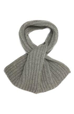 Мужской кашемировый шарф LORO PIANA серого цвета, арт. FAI4103 | Фото 1