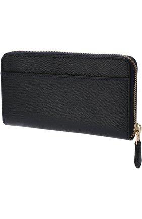 Кожаный кошелек на молнии Coach красного цвета | Фото №1