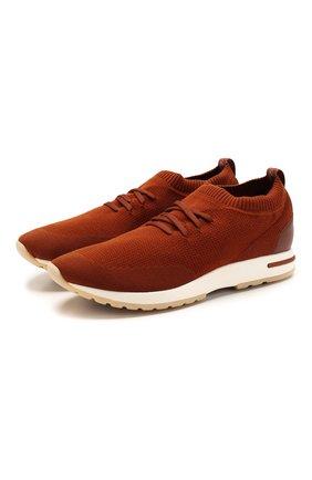 Мужские текстильные кроссовки 360 lp walk LORO PIANA красного цвета, арт. FAI1540 | Фото 1