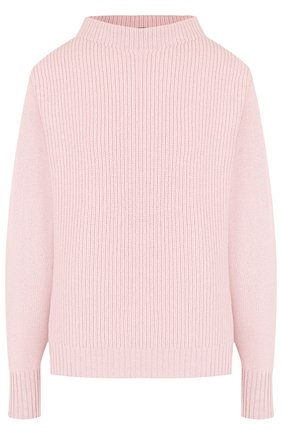 Однотонный кашемировый пуловер с воротником-стойкой Windsor темно-синий | Фото №1