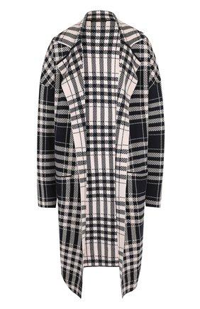 Пальто из смеси шерсти и хлопка в клетку Windsor темно-синего цвета | Фото №1