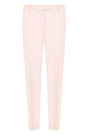 Однотонные брюки со стрелками Windsor светло-розовые | Фото №1