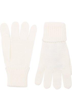 Детские перчатки из шерсти IL TRENINO белого цвета, арт. 18 5059/E3 | Фото 2