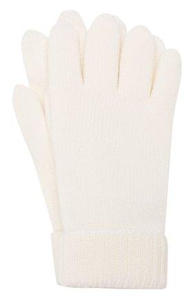 Детские перчатки из шерсти IL TRENINO белого цвета, арт. 18 9008/E0 | Фото 1