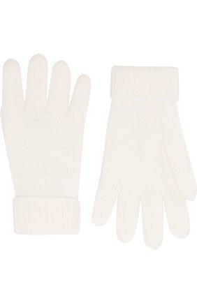 Детские перчатки из шерсти IL TRENINO белого цвета, арт. 18 9008/E0 | Фото 2
