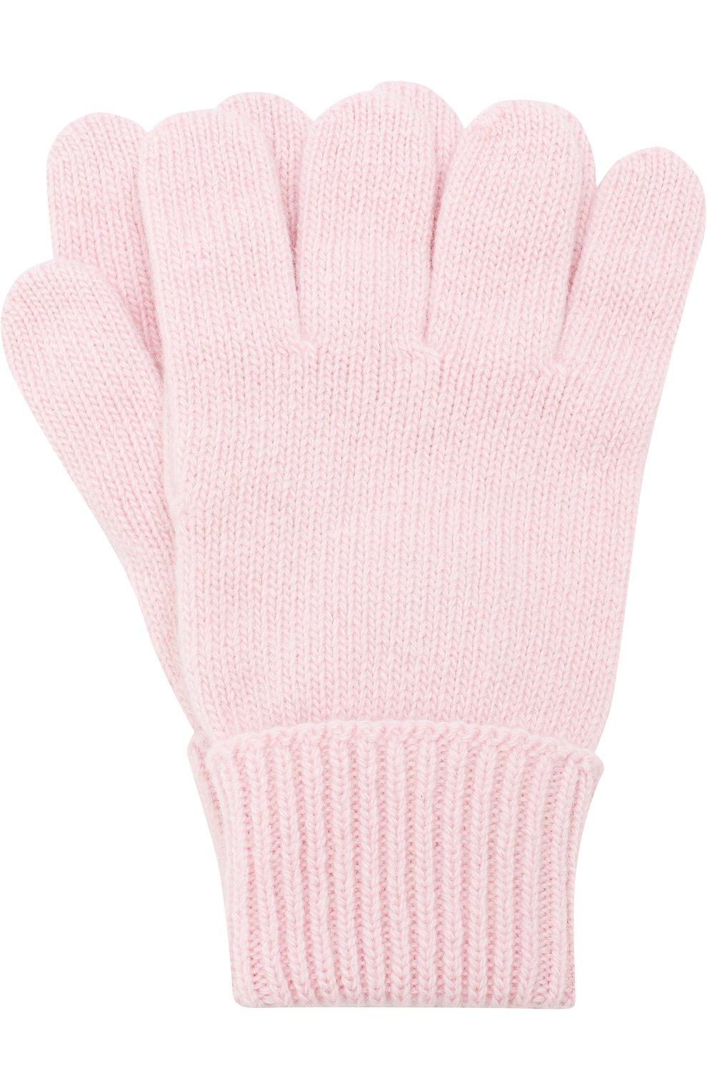 Детские перчатки из смеси шерсти и кашемира IL TRENINO светло-розового цвета, арт. 17 5139/E0 | Фото 1