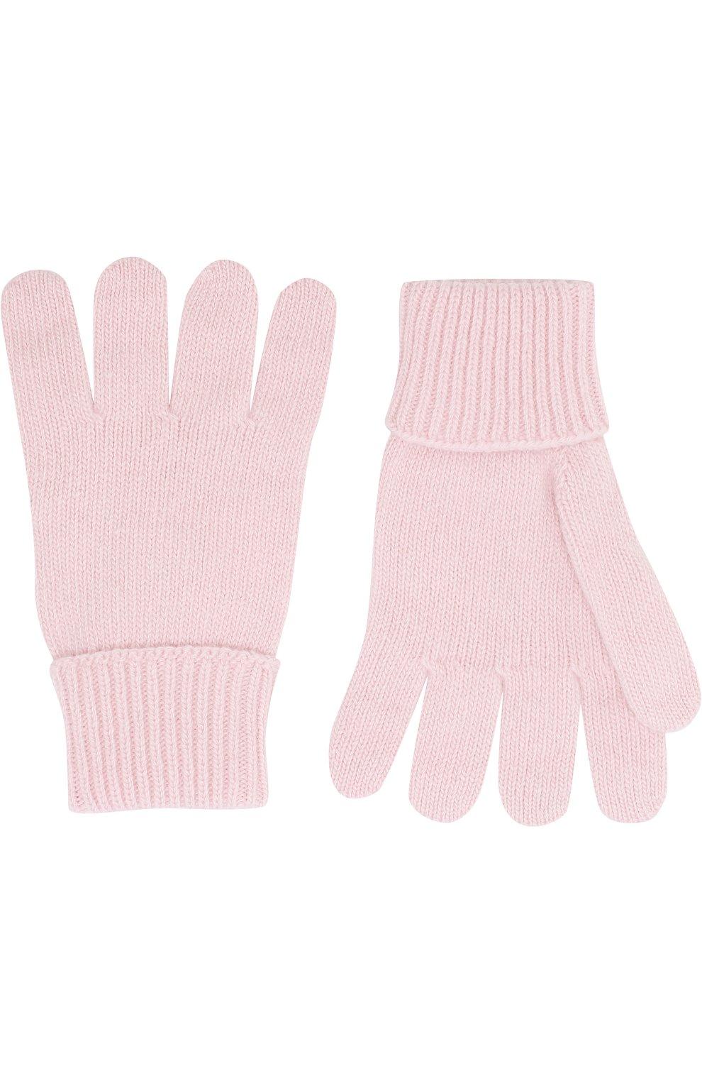 Детские перчатки из смеси шерсти и кашемира IL TRENINO светло-розового цвета, арт. 17 5139/E0 | Фото 2