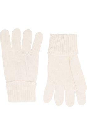 Детские перчатки из смеси шерсти и кашемира IL TRENINO белого цвета, арт. 17 5139/E0 | Фото 2