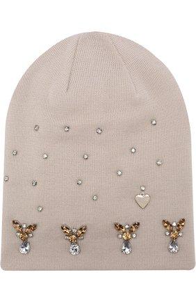 Шерстяная шапка с кристаллами | Фото №1