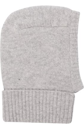 Детского шапка-балаклава из смеси шерсти и кашемира IL TRENINO светло-серого цвета, арт. 18 7529/E0 | Фото 2