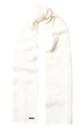 Детский шерстяной шарф IL TRENINO белого цвета, арт. 18 1121/E0 | Фото 1